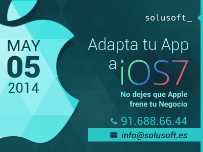 Adapta tu app a iOS 7. Que Apple no frene tu negocio.