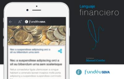 Fundéu mobile app for properly use of financial language.